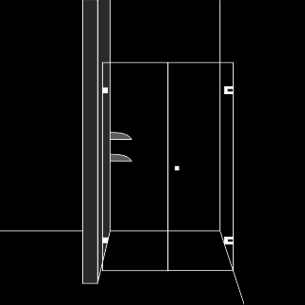 Комфортна душ преграда с 1 отваряема врата