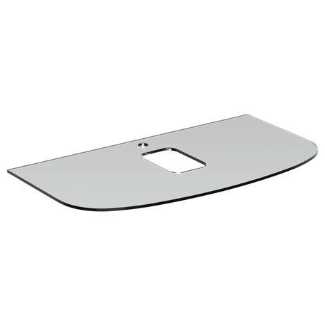 Dea Бял стъклен плот 100 cm