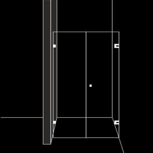 Душ преграда с 1 отваряема врата
