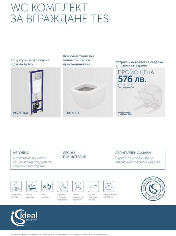 WC Комплект за вграждане TESI