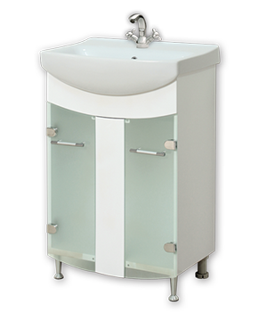 Долен шкаф за баня с мивка Атлас
