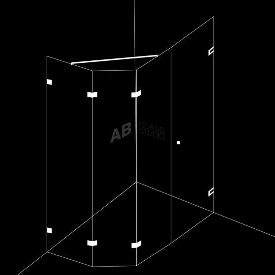 Душ-кабина 4 части с 1 отваряема врата