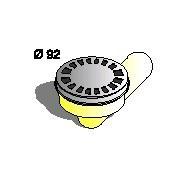 Сифон, Производител Sapil, PO51880C54, Аpтикул номер: 03299 кръгъл; рогов