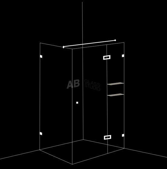 Душ-кабина 3 части с 1 отваряема врата размери 110x190