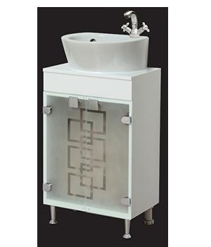 Долен шкаф за баня с мивка Кита