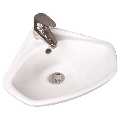 Eurovit Ъглова мивка 44 cm с отвор за смесител