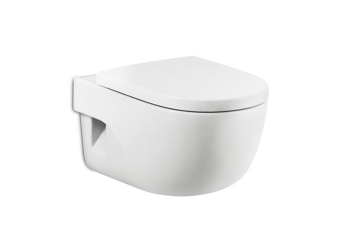 Компактна порцеланова тоалетна за окачване на стена с хоризонтално оттичане Meridian Compacto - ROCA A346248000