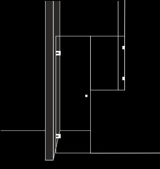 Частична душ преграда с 1 отваряема врата