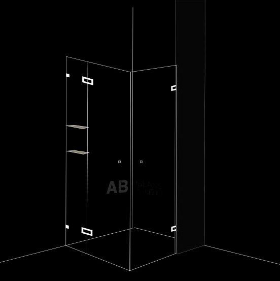 Душ-кабина 3 части с 2 отваряеми врати