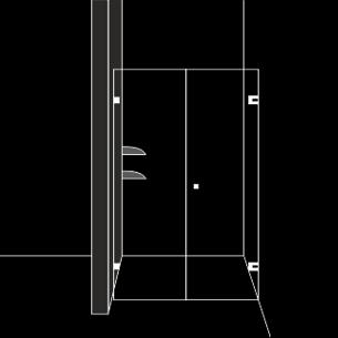 Дискретна душ преграда с 1 отваряема врата