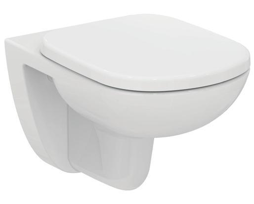 Конзолна тоалетна и седалка плавно затваряне Tempo - IDEAL STANDARD