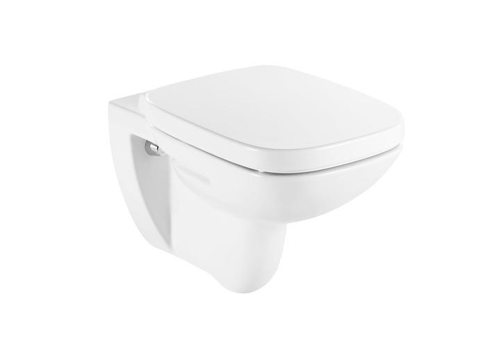 Конзолна тоалетна и седалка с неръждаеми панти Debba - ROCA